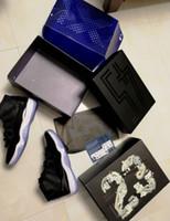 ingrosso navy blu polo-La migliore qualità all'ingrosso vince come 96 ghiaccio blu Space Jam 11 blu scuro del blu marino di ginnastica di colore rosso con i pattini di pallacanestro della scatola che spedice liberamente