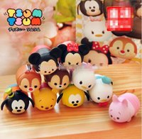 Wholesale Pluto Plush - 10pcs lot 2016 Cute Mini TSUM TSUM Mickey Pluto Donald hard plastic PVC Toy Tsum Tsum Toys For Kids