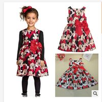 Wholesale Minnie Dress For Kids - 2015 Summer Girls Dress Tutu Princess Baby Mickey Minnie Mouse Dress Dot Baby Casual Paty Dress for 2-6 Years Kid Dress free shipping G00300