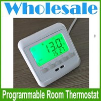 Wholesale Electric Floor Heating Thermostat - Programmable Room Thermostat Electric Floor Heating Thermostats Temperature Controller Room Thermostat