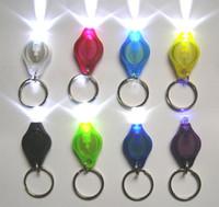 mini linternas led llaveros al por mayor-Blanco UV Llavero LED Luz Mini LED Linterna Llaveros Accesorios para llaves de automóvil 2 Micro Luz LED Llavero Linterna Mini Luz Colores