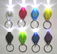 Wholesale 5w Uv Led Wholesale - White & UV LED Keychain Light Mini LED Flashlight LED Keychains Car Key Accessories 2 Micro Light LED Keychain Flashlight Mini Light Colors