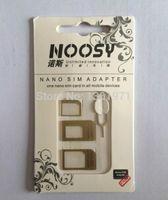 dhl 5s gold toptan satış-Toptan Satış - Toptan-Ücretsiz DHL Kargo 2000pcs / lot Altın Noosy Nano SIM Adaptörleri IP 4 / 4s / 5 / 5s için S3 / S4 / Not 4 3 için Çıkar Pin ile dönüştürme