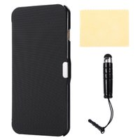 Wholesale Iphone Leather Case Stylus - For iPhone 7 Plus Case 5.5 inch Ultra Thin Flip Slim Twill Leather Smart Cover Magnetic Secure Screen Protector Stylus