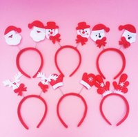 Wholesale Wholesale Coral Ribbon - Christmas Head buckle Hoop Lovely spring double style hair band decorations Christmas items free shipping CH01002