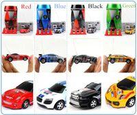 coche rojo de la deriva del rc al por mayor-Mini-Racer teledirigido del coche Coca-Cola puede Mini RC Radio teledirigido micro coche de carreras ¡envío de DHL !!!