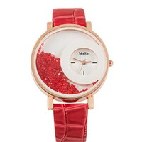 Wholesale fashion watch beads for sale - Women s Fashion Watch Quartz Leather Wristwatch Analog Round Dial Moving Beads Crystal Watches Ladies Casual