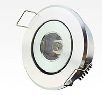 Wholesale 1w 12v Led Cabinet - Free shipping 2016 newest high power LED mini round circle Recessed Ceiling Down light 1W 3W LED cabinet lamp white aluminum