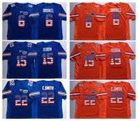 15 Tim Tebow Florida Gators Orange Blue 22 E.Smith 6 Jeff Driskel College Football Jersey Uomini maglie bandiera