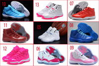 Wholesale Cream Colour Boots - 11 Colours (With Box) Wholesale Retro 11 XI Low Sao Powder Space Jams Concord Bred Legend Blue Women Basketball Sport Trainers Shoes