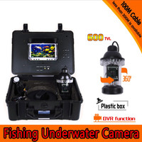 Wholesale Underwater Monitoring - 2016 New Underwater Fishing Camera Kit with 100Meters Depth 360 Rotative Camera & 7Inch Monitor with DVR Built-in & Hard Plastics Case