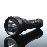 Wholesale Lumens Flashlight m Modes CREE XM L T6 LED Diving Flash Flashlight Underwater Torch Light Waterproof
