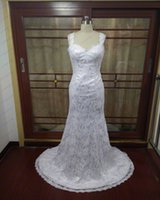Wholesale Dropshipping Garden - New Sexy Cap sleeves Sweetheart Lace Mermaid Wedding Dress 2016 Chapel Train Bridal Dress Backless DropShipping