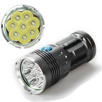 Wholesale cree skyray led - SKYRAY KING CREE XM-L XML 8xT6 LED 10000lm LED Flashlight Torch Lamp For Camping