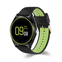 Wholesale Quad Band Android Inch - V9 Smartwatch Phone 1.22 inch Quad Band Bluetooth Smart Wrist Watch Waterproof MTK6261 Camera Pedometer for Android IOS