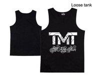 Wholesale Tank Tops Styles For Men - Top new TMT loose vest Tank Men's brand printing vest fashion designer vest for mens tops silk tanks 9 style free shipping