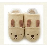 Wholesale Novelty Pigs - New Novelty Home Slippers for Girls Boys Winter Soft Sole Shoes Lovely Plush Warm Indoor Slippers, Rabbit Cat Panda Pig Style ST-0024
