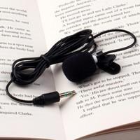 Wholesale Microphone Dslr - Tie Lapel Lavalier Clip On Microphone 1Pcs 30Hz~15000Hz Mini 3.5mm for Lectures Teaching Canon Nikon DSLR Camcorder Audio Recorders