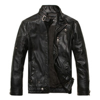 Wholesale Winter Leathers - Fall-New Arrival 2015 Leather Jacket Men Winter Fashion Motorcycle Casual Mens Leathers Jackets and Costs Jaqueta De Couro Masculina