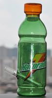 dab teçhizatı kola toptan satış-2015 Mavi yeşil Cam Bong Spritech Kirli bongs halorade yağ rig kok şişe nargile botttle bong kabarcık dab wapter boru hightechglass