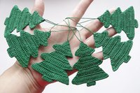 Wholesale Hand Decorated Christmas Ornaments - Hand-crocheted white snowflakes decorate Christmas ornaments Santa Claus decoration products 100% Cotton 12   per pack sd31