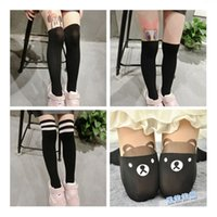 Wholesale Girls Tattoo Tights - Hot-selling Children Baby Kids Girls Tights Cute Pantyhose Knee Lovely Tattoo Tights cute cartoon Pantyhose Girls Velvet Stocking