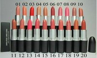 Wholesale Lowest Prices Name Brands - Free Shipping! hot selling The lowest price New brand lustre Lipstick rouge a levres 20 Colors Makeup Lipstick With English Name 3 g (20pcs
