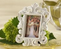 Wholesale Elegant Wedding Photo Frame White - Valentine's Day wholesale White Baroque Elegant Place Card Holder Photo Frame