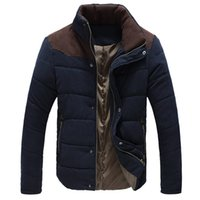 Wholesale Wadded White Jacket Men - 2016 New Winter Men's Jacket Slim Fit Casual Coat Warm Thermal Wadded Jacket Cotton-padded Coat For Men 5 Color Plus Size:M-5XL