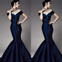Wholesale Evening Dresses Sleeves Corset - Best Elegant Off Shoulder Mermaid Trumpet Corset Prom Evening Dresses Formal Gowns Zuhair Murad Backless Floor Length Taffeta Party Vestidos