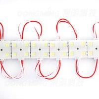 Wholesale Ad Dc - Wholesale-500pcs lot wholesale led module light 5050smd dc 12v injection module light 4leds pcs dc 12v waterproof outdoors ad light