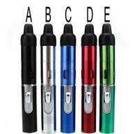 Wholesale butane cigarette pen - 2016 Butane Smoke Torch Jet Flame Lighter Pen Click N Vape sneak A vape sneak a toke smoking metal pipe Vaporizer