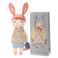 güzel bebekler yeni toptan satış-Yeni Varış Hakiki Metoo Angela Tavşan Bebekler Bunny Bebek Peluş Oyuncak Sevimli Güzel Doldurulmuş Oyuncaklar Çocuk Kız Doğum Günü / Noel Hediyesi
