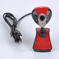 Wholesale Web Cam Camera - Wholesale USB 2.0 50.0M 6 LED PC Camera HD Webcam Camera Web Cam with MIC for Computer PC Laptop