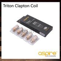 aspire cabeça de bobina de substituição triton venda por atacado-Aspire Triton 2 0,5 ohm bobinas de Clapton cabeça da Bobina de Substituição para Triton 2 Tanque Atlantis Atomizador 100% Original