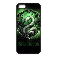 Estuche Harry Potter Slytherin para iPhone 4s 5s 5c 6 6s Plus ipod touch 4 5 6 Samsung Galaxy s2 s3 s4 s5 mini s6 edge plus Note 2 3 4 5 estuches