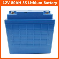 Wholesale 12v li ion batteries - 12V 3S Lithium battery 12V 80AH li-ion battery for Electric Bike scooter UPS Streetlamp solar system with 14.6V 5A Charger