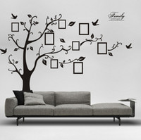 Wholesale flower wall decorations 3d for sale - Group buy Large Cm in Black D DIY Photo Tree PVC Wall Decals Adhesive Family Wall Stickers Mural Art Home Decoration