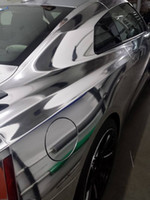 Wholesale Chrome Stickers - Stretchable Flexible Silver Chrome Wrap Vinyl Wrap Chrome Mirror Film For Car Wrap Air Free Bubble Size:1.52*20M Roll (5ft x 65ft)
