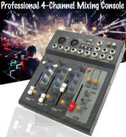 Wholesale Dj Powered Mixer Console - Professional 4 Channel 48V Power Karaoke Studio Microphone Audio Mixer USB Digital Processor Sound Effect Console KTV DJ Mixer