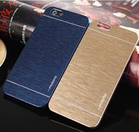 peau en métal brossé iphone achat en gros de-Pour Samsung S8 De Luxe Ultra mince Motomo En Métal Brossé Peau Protecto PC Coque Coque Arrière pour iphone 7 6s Samsung S7