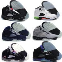 Wholesale Grape Jam - New 2016 Cheap Retro 5 Men Basketball Shoes space jam Green Black Grape Oreo Leather Black Fresh Prince Athletics Sport Sneaker Boots