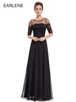 Wholesale Lacy Evening Dresses - 2017 New Style sexy Evening Dresses Fashion Elegant Pretty Blue Red and Black Lacy Evening Dress