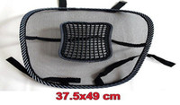PVC black mesh chair - New Arrive Car Seat Chair Massage Back Lumbar Support Mesh Ventilate Cushion Pad Black
