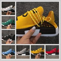 Wholesale Golf Band - BIG SIZE Pharrell Williams Boost NMD HUMAN RACE In Yellow red black blue grey men women Classic Fashion Sport sneakers Shoes us 5-13