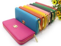 Wholesale Wholesale Wallets For Women - fashion leather wallets purses for women Litchi Grain Soft PU Leather Wallet handbags Clutch handbag credit card holder Totes