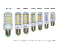 Wholesale E27 36led - SMD5730 E27 GU10 B22 E14 G9 LED bulbs 7W 12W 15W 18W 220V 110V 360 angle SMD Led Corn light 24LED 36LED 48LED 56LED led lights
