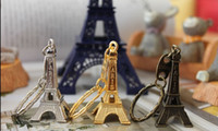 Wholesale france souvenirs - Fashion Keychains 3D Eiffel Tower French france souvenir paris KeyChain Ring keyring keyfob cute Adornment Paris Eiffel Tower Keychain 5CM