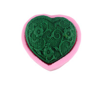 Wholesale Soap Molds Heart Shape - heart love leaf shape silicone fondant cake molds soap chocolate mold for the kitchen baking clay mold M-094