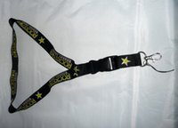 LIBERO 30 parti / lotto Rockstar Energy Motocross che corre Lanyard Keychain Badge Holder ID Phone Holder
